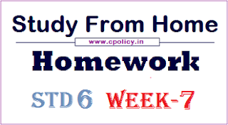 std 6 Study From Homework week 7 pdf Download
