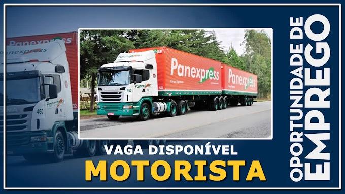 Transportadora Panex abre vagas para motorista carreteiro