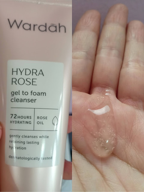 Review face wash Wardah Hydra Rose Gel To Foam Cleanser
