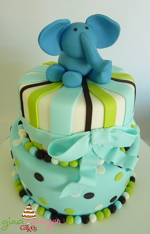 Top That Elephant First Birthday Cake