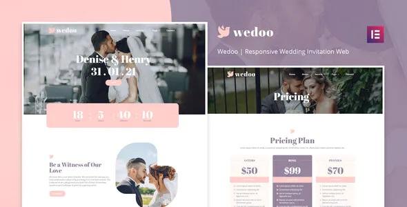 Best Online Wedding Invitation Elementor Template Kit