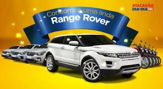 Promoção Atacadão Dia a Dia Aniversário 2017 Range Rover Motos Fiat Mobi