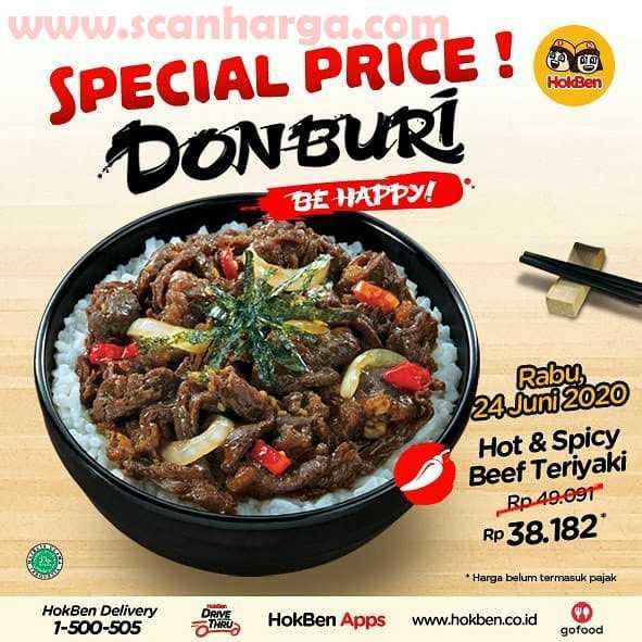 Promo Hokben Special Price Donburi Harga Hanya 38 Ribuan!