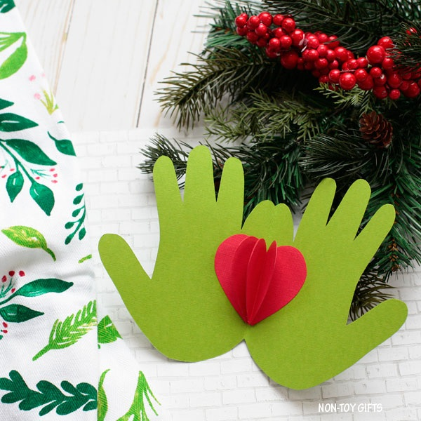 Handprint Grinch Cards