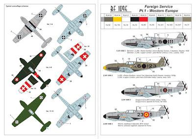 "AR14306 - 1/144 Messerschmitt Bf 109E ""Foreign Service Aces"", Pt.1 picture 4"