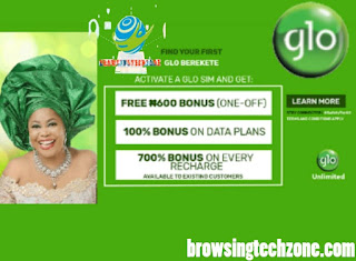 How To enjoy 700% bonus on every recharge on Glo Berekete