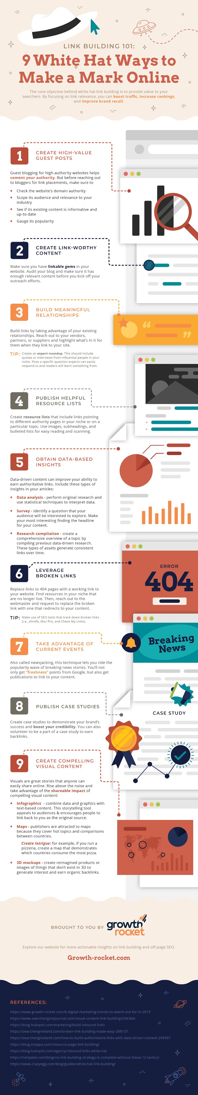Link Building 101: White Hat Ways to Make a Mark Online #infographic