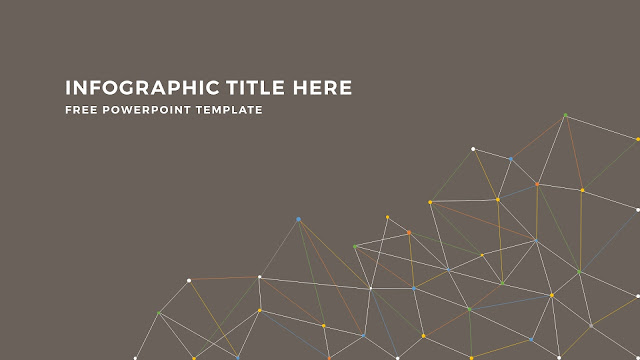 Infographic Linear Apstract Background and Title Free PowerPoint Template Slide 3