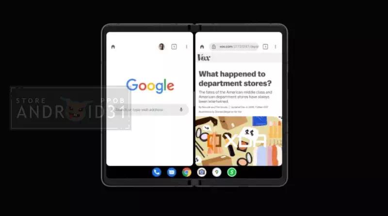 Android 12.1 Taskbar Menu