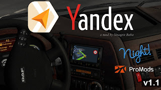 ets 2 yandex navigator night version for promods v1.1