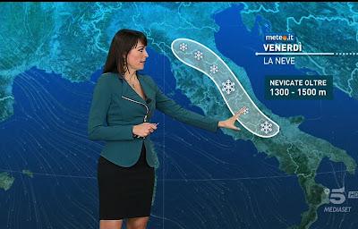 Stefania Andriola foto neve oggi centro italia cartina