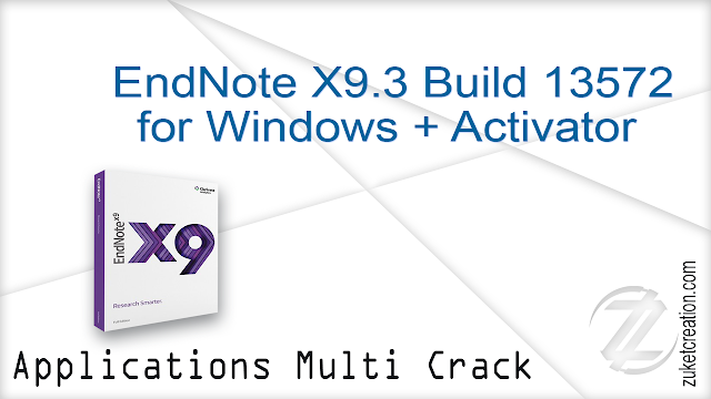 EndNote X9.3 Build 13572 for Windows + Activator