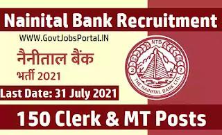 Nainital Bank Clerk Recruitment 2021