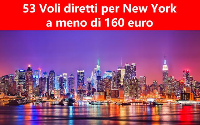 53 voli diretti per New York a meno di 160 euro