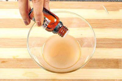 ajoutez quelques gouttes d'huile essentielle