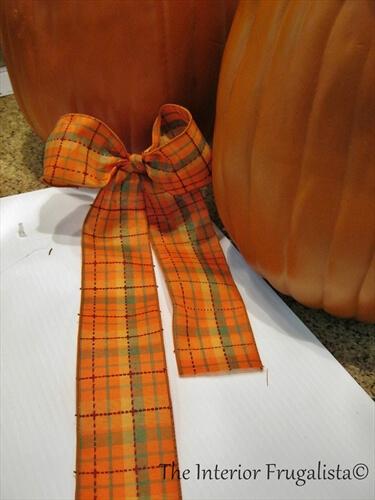 Faux Stacked Pumpkins Fall Ribbon Bow