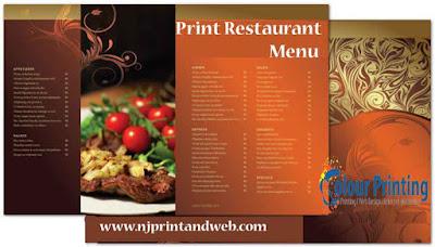 menu printing services