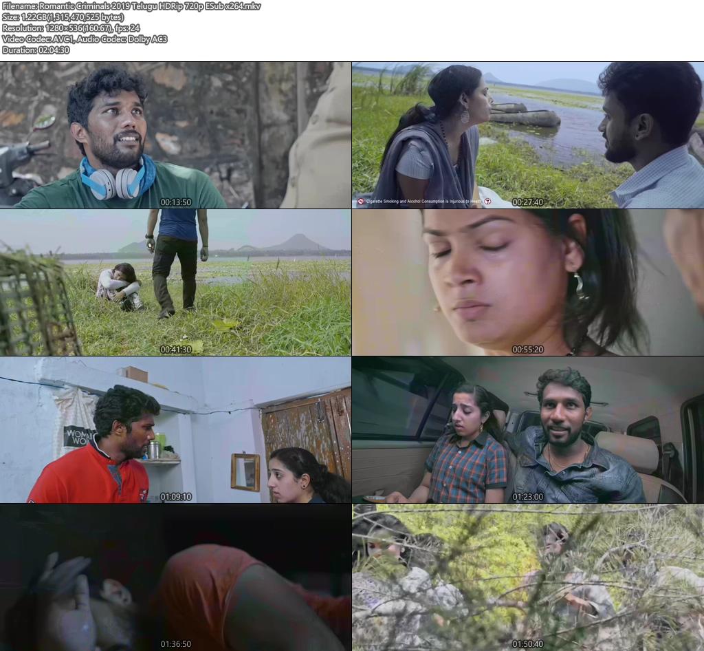 Romantic Criminals 2019 Telugu HDRip 720p ESub x264  | 480p 300MB | 100MB HEVC Screenshot