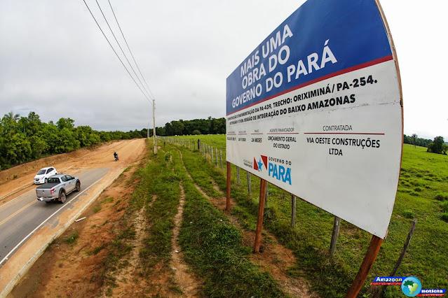 Estado assina ordem de serviço para pavimentação e construção da rodovia PA-439, em Oriximiná