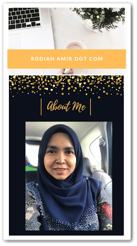 Sahabat blogger pilihan Starlavenderluna : Rodiah Amir
