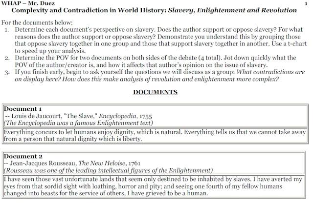 Dbq american revolution thesis