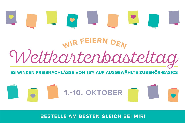 Weltkartenbasteltag 15% Rabatt auf ausgewählte Stampin' Up! Produkte
