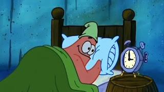 Mentahan meme patrick bangun jam 3 pagi
