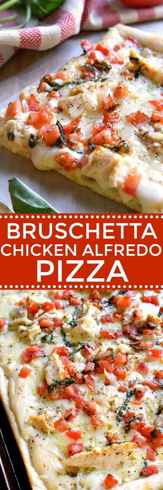Bruschetta Chicken Alfredo Pizza