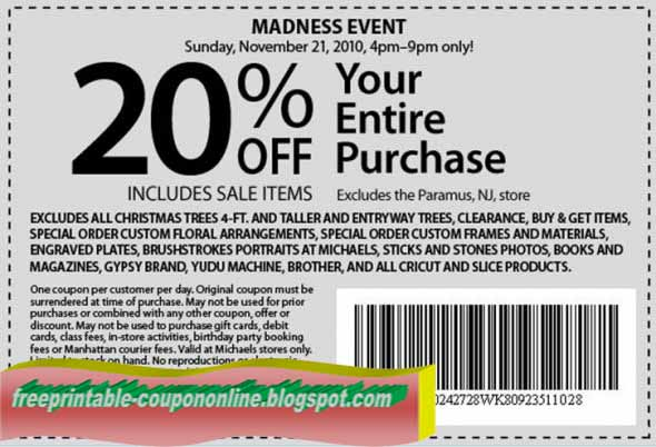 photograph regarding Michaels Coupon Printable identified as Michaels printable discount coupons april 2019