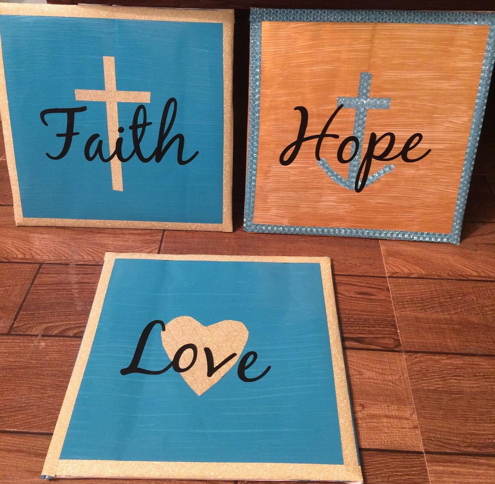 Anchored Forever Diy Faith Hope Love Wall Decor