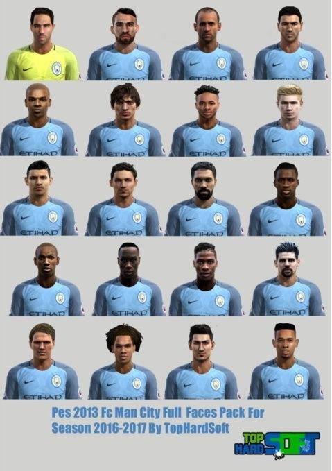 Manchester City Full Facepack For Season 2016-2017 - PES 2013