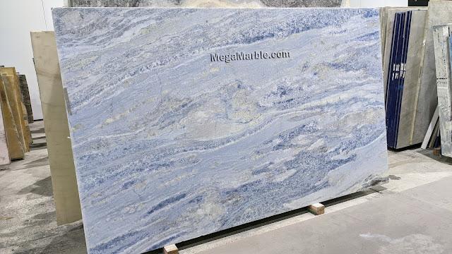 2cm Calcite Azul Extra Marble Slabs