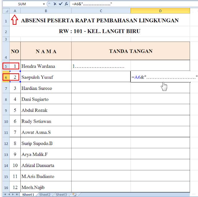 Cara Membuat Form Absensi Di Microsoft Excel Cara Membuat Form Absensi Di Microsoft Excel
