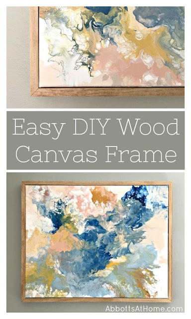 Easy DIY wood frame for canvas art