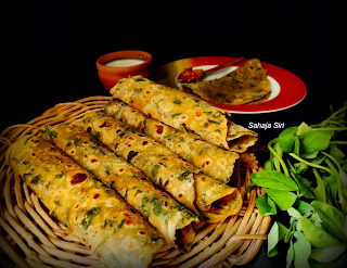 Fenugreek leaves wheat spicy roti