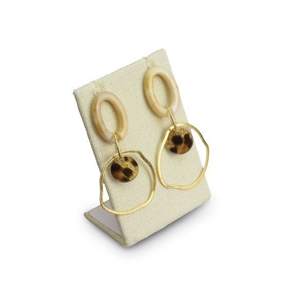 #ED-2140N-LE Burlap Linen Earring Display Stand
