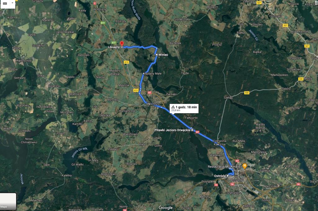 Przystanek Mazury / Ostróda, Piławki, Miłomłyn, Liksajny – rowerem przez Mazury wzdłuż S7