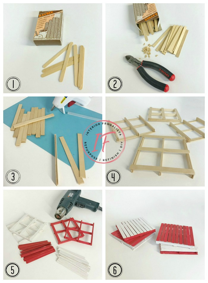 Popsicle Stick Coasters : popsicle, stick, coasters, Canada, Popsicle, Stick, Pallet, Coasters, Interior, Frugalista