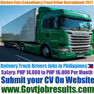 Kitchen Care Consultancy Phils Inc Delivery Truck Driver Recruitment 2021-22