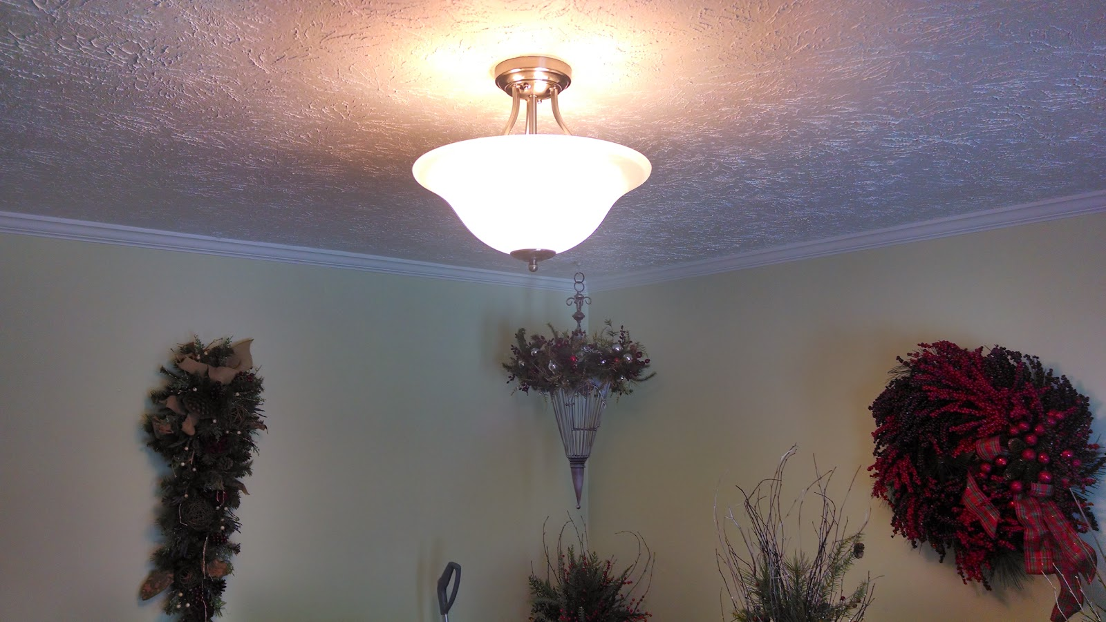 Mark s Project Blog  Replacing a ceiling fan with a light fixture Replacing a ceiling fan with a light fixture
