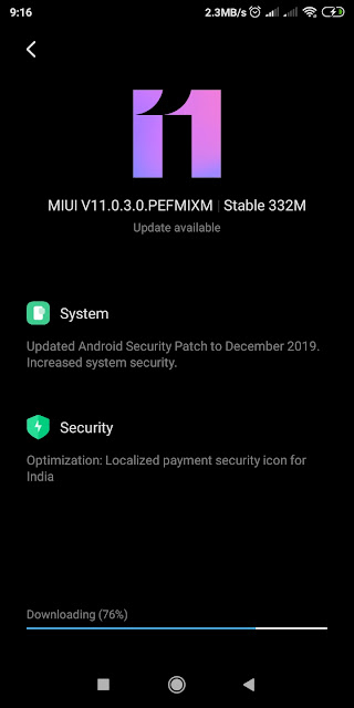 update miui 11.0.3.0 stable - xiaomiintro