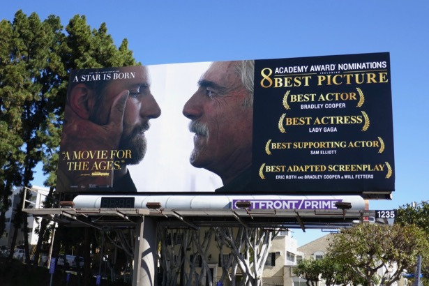 A Star is Born Oscar nominee Bradley Cooper Sam Elliott billboard