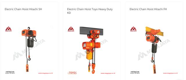 Jual Hoist Hitachi dan Merek Electric Chain Hoist Lainnya