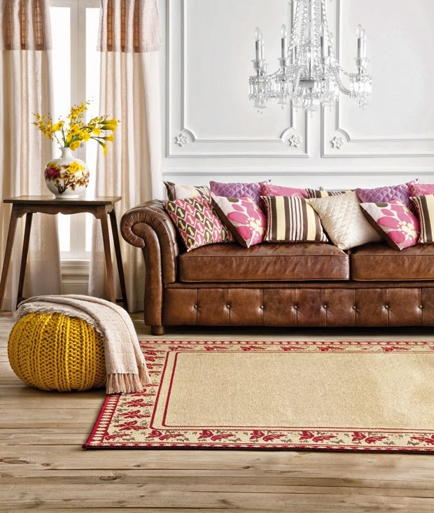 Pink Leather Sofa: How To Style A Leather Sofa Part 1