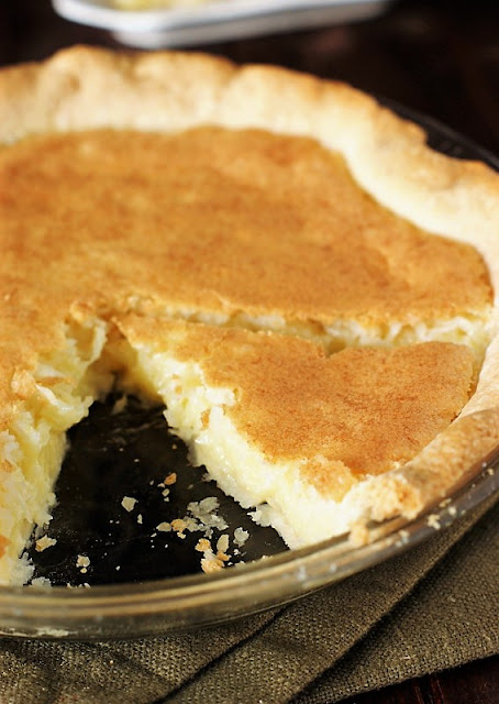 Grandma's Coconut Custard Pie Image