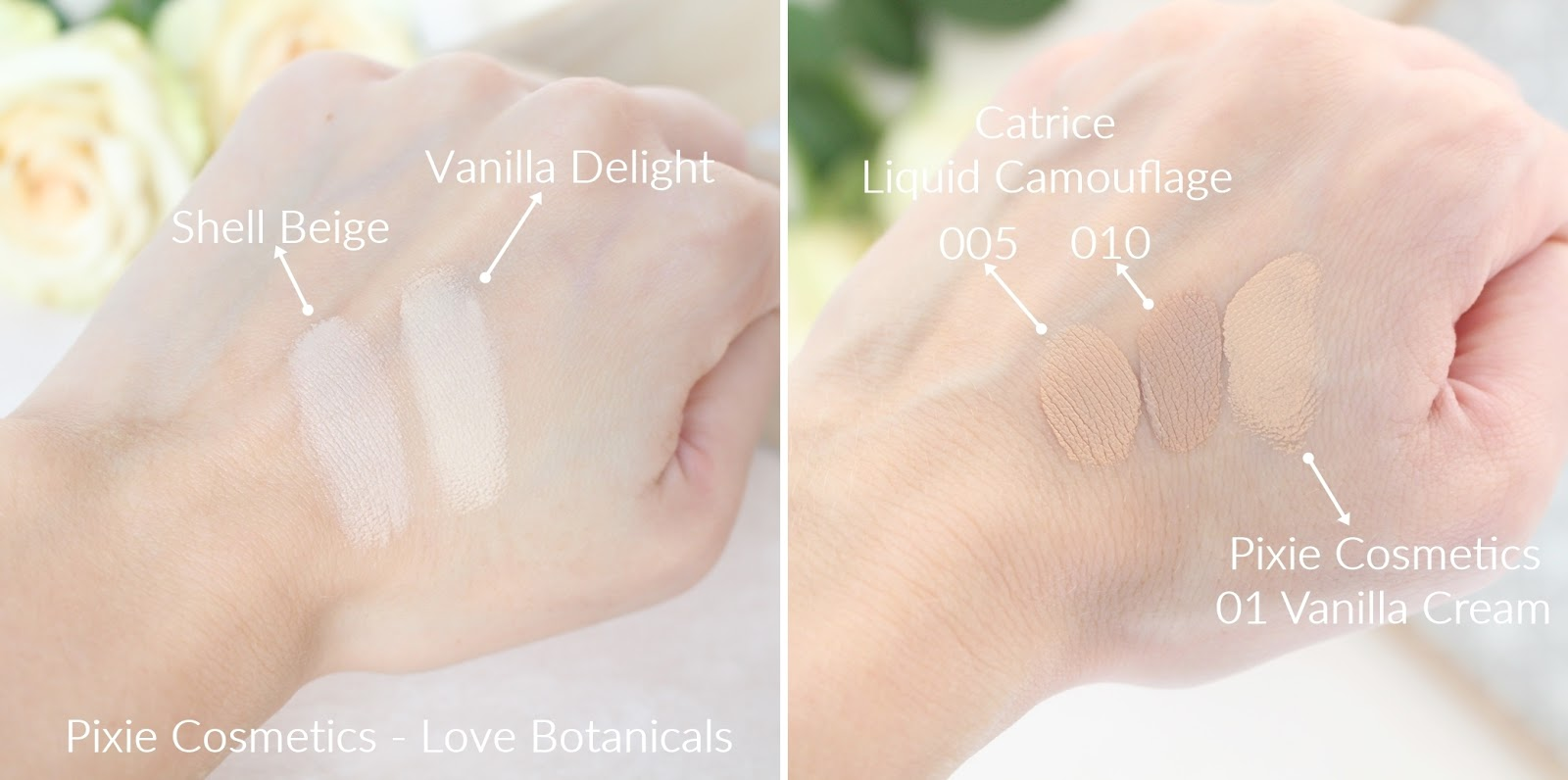 pixie-cosmetics-podkład-korektor-swatche