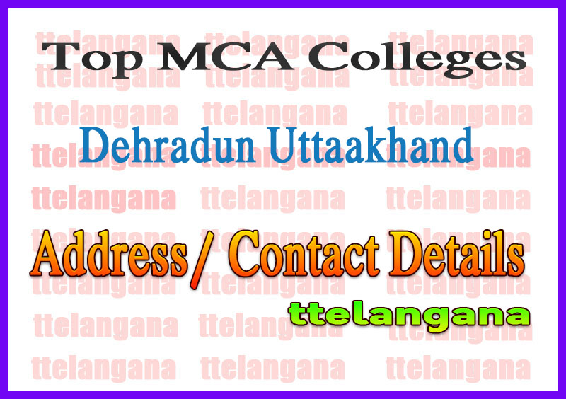 Top MCA Colleges in Dehradun Uttaakhand