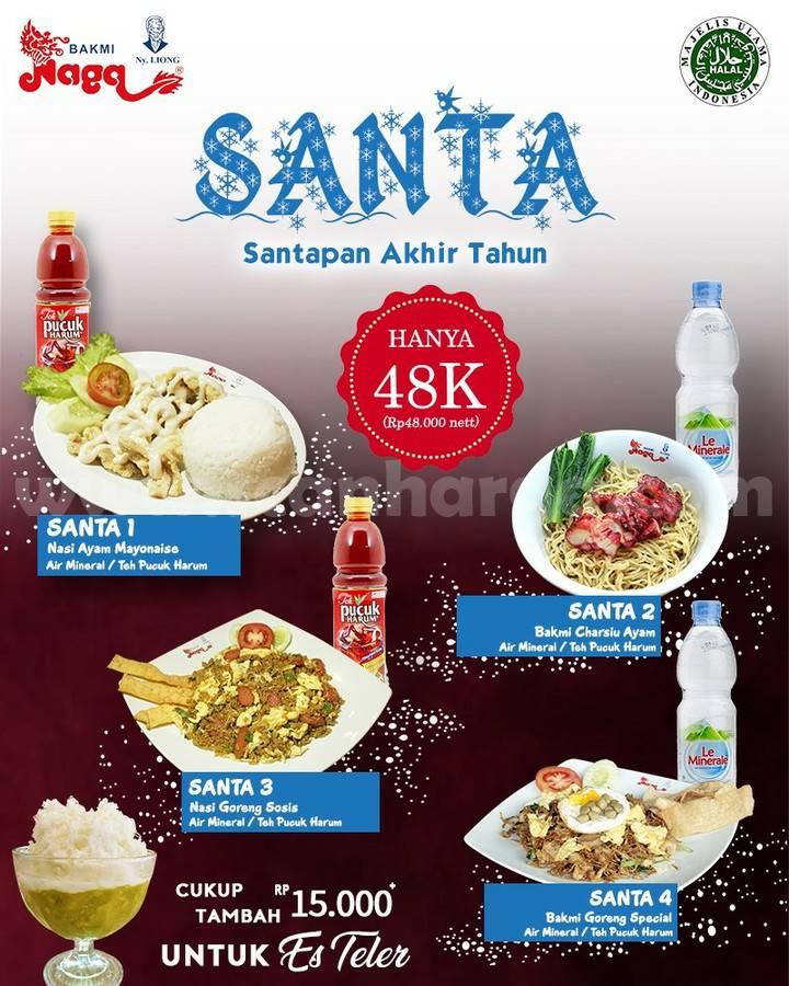 Bakmi Naga Promo Paket Santa cuma Rp 48.000*