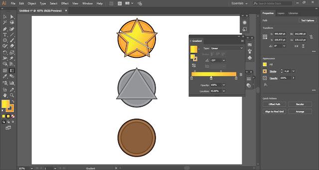 Medal Icons in Adobe Illustrator