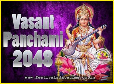2048 Vasant Panchami Puja Date & Time, 2048 Vasant Panchami Calendar